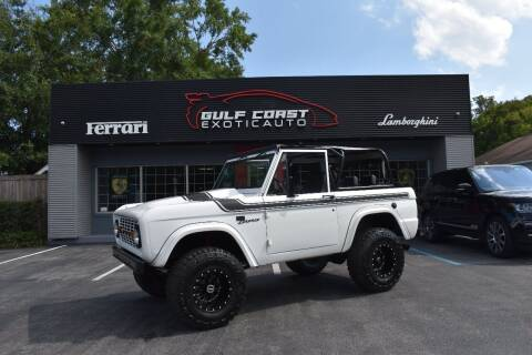 1971 Ford Bronco for sale at Gulf Coast Exotic Auto in Biloxi MS