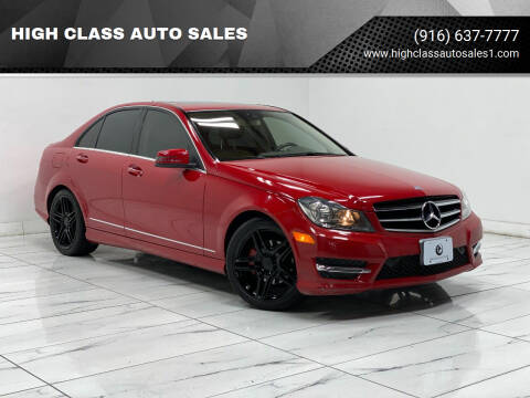 2014 Mercedes-Benz C-Class for sale at HIGH CLASS AUTO SALES in Rancho Cordova CA