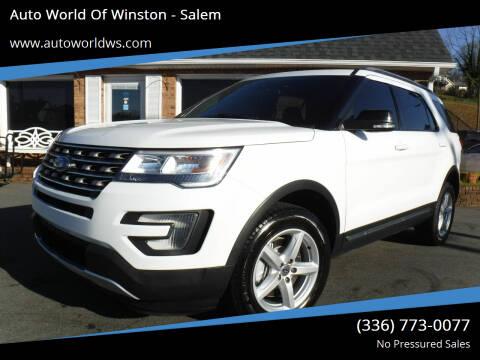 2017 Ford Explorer for sale at Auto World Of Winston - Salem in Winston Salem NC
