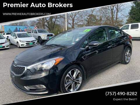 2015 Kia Forte for sale at Premier Auto Brokers in Virginia Beach VA