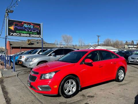 2016 Chevrolet Cruze Limited for sale at AWD Denver Automotive LLC in Englewood CO