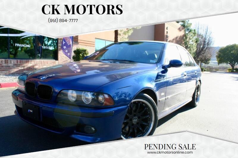 2003 BMW M5 for sale at CK Motors in Murrieta CA