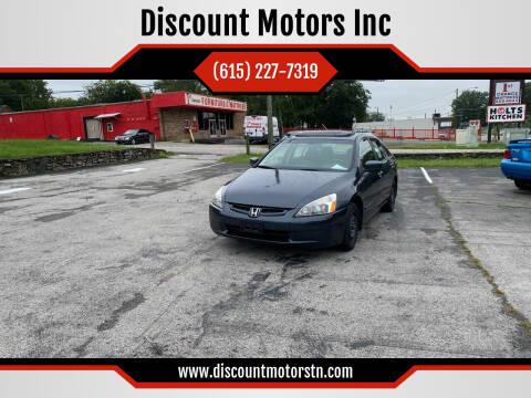 2003 Honda Accord for sale at Discount Motors Inc in Nashville TN