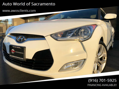 2013 Hyundai Veloster for sale at Auto World of Sacramento Stockton Blvd in Sacramento CA