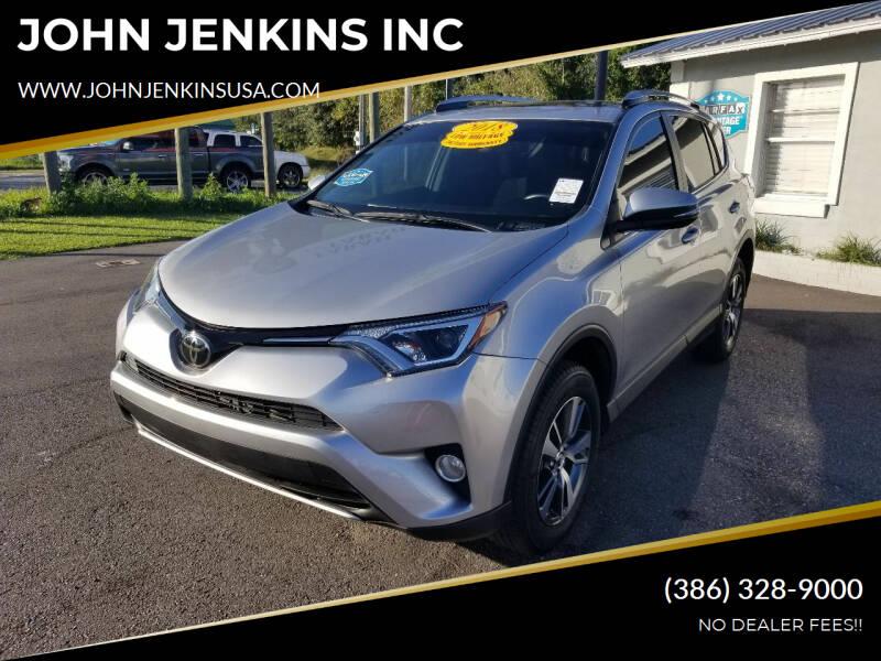 2018 Toyota RAV4 for sale at JOHN JENKINS INC in Palatka FL