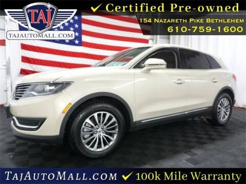 2016 Lincoln MKX for sale at Taj Auto Mall in Bethlehem PA