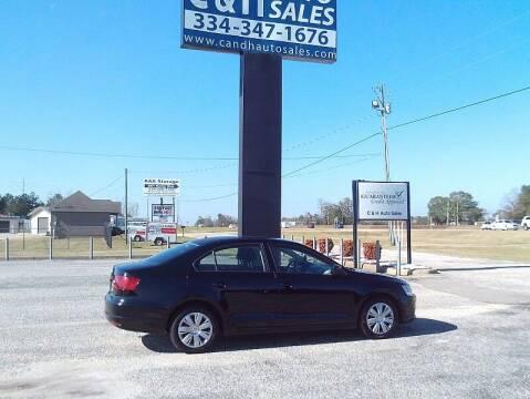 2011 Volkswagen Jetta for sale at C & H AUTO SALES WITH RICARDO ZAMORA in Daleville AL