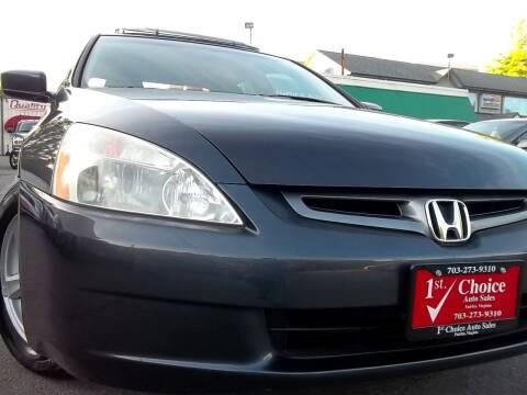 2004 Honda Accord for sale at 1st Choice Auto Sales in Fairfax VA