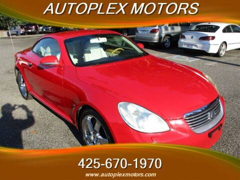 2002 Lexus SC 430 for sale at Autoplex Motors in Lynnwood WA