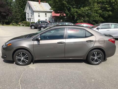 2019 Toyota Corolla for sale at MICHAEL MOTORS in Farmington ME