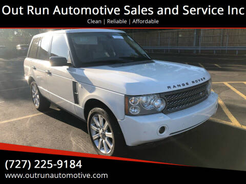 2008 Land Rover Range Rover for sale at Out Run Automotive Sales and Service Inc in Tampa FL