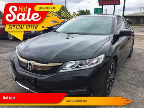 2016 Honda Accord for sale at Ital Auto in Oklahoma City OK