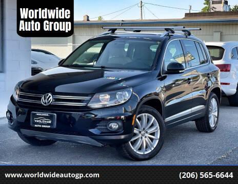 2012 Volkswagen Tiguan for sale at Worldwide Auto Group in Auburn WA