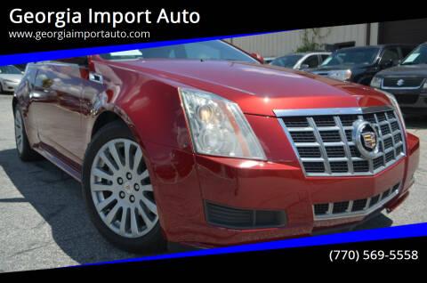 2014 Cadillac CTS for sale at Georgia Import Auto in Alpharetta GA