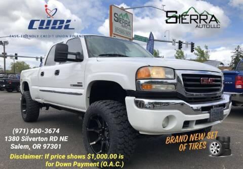 2006 GMC Sierra 2500HD for sale at SIERRA AUTO LLC in Salem OR