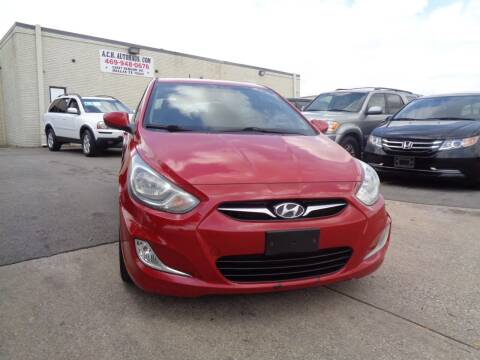 2012 Hyundai Accent for sale at ACH AutoHaus in Dallas TX