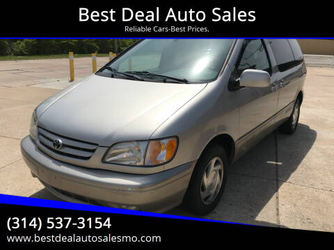 2001 Toyota Sienna for sale at Best Deal Auto Sales in Saint Charles MO