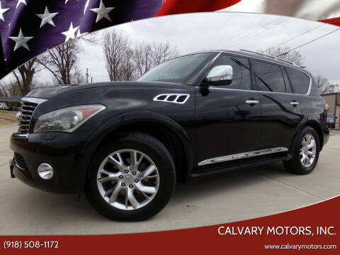 2012 Infiniti QX56 for sale at Calvary Motors, Inc. in Bixby OK