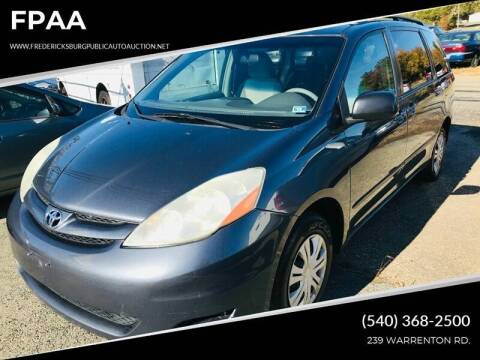 2007 Toyota Sienna for sale at FPAA in Fredericksburg VA