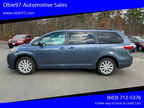 2017 Toyota Sienna for sale at Obie97 Automotive Sales in Londonderry NH