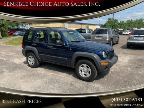 2004 Jeep Liberty for sale at Sensible Choice Auto Sales, Inc. in Longwood FL