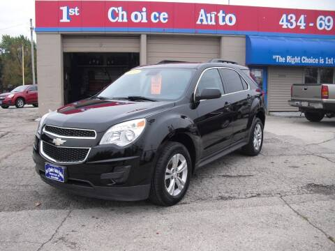 2013 Chevrolet Equinox for sale at 1st Choice Auto Inc in Green Bay WI