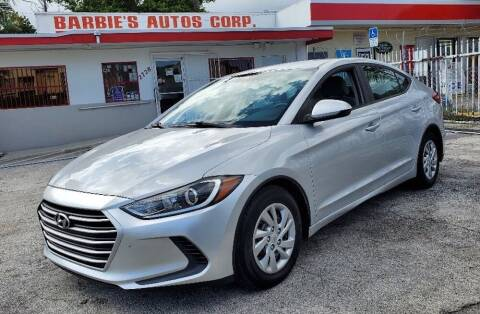 2017 Hyundai Elantra for sale at Barbie's Autos Corp in Miami FL