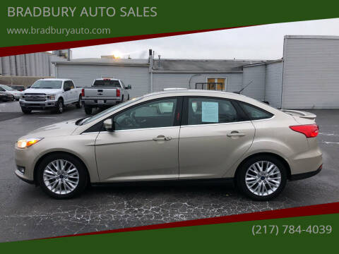 2018 Ford Focus for sale at BRADBURY AUTO SALES in Gibson City IL