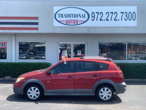 2007 Pontiac Vibe for sale at Traditional Autos in Dallas TX
