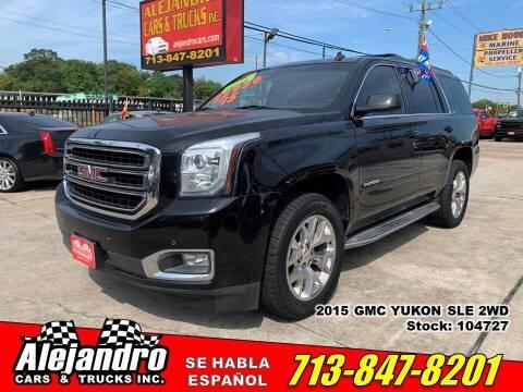 2015 GMC Yukon for sale at Alejandro Cars & Trucks Inc in Houston TX