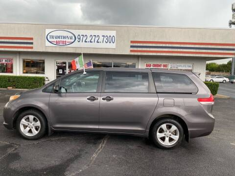 2011 Toyota Sienna for sale at Traditional Autos in Dallas TX