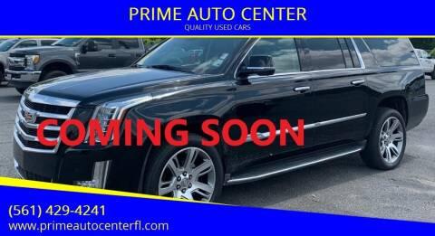 2016 Cadillac Escalade ESV for sale at PRIME AUTO CENTER in Palm Springs FL