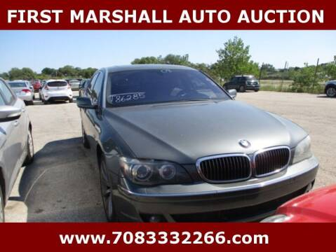 2008 BMW 7 Series for sale at First Marshall Auto Auction in Harvey IL