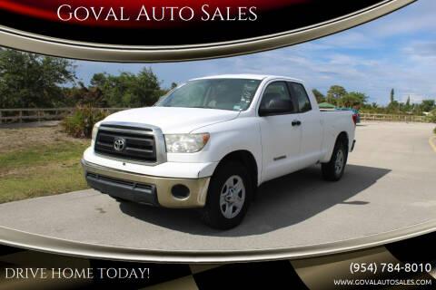 2010 Toyota Tundra for sale at Goval Auto Sales in Pompano Beach FL