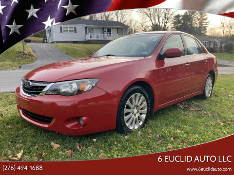 2009 Subaru Impreza for sale at 6 Euclid Auto LLC in Bristol VA