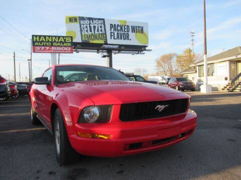 2007 Ford Mustang for sale at Hanna's Auto Sales in Indianapolis IN