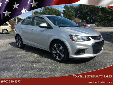 2017 Chevrolet Sonic for sale at Towell & Sons Auto Sales in Manila AR