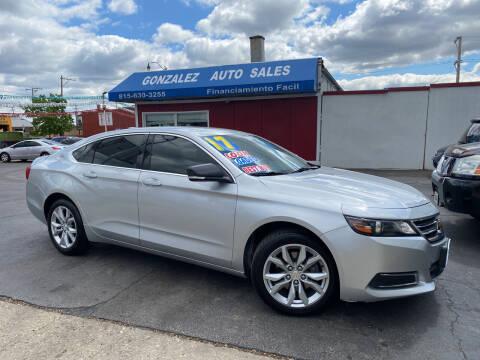 2017 Chevrolet Impala for sale at Gonzalez Auto Sales in Joliet IL