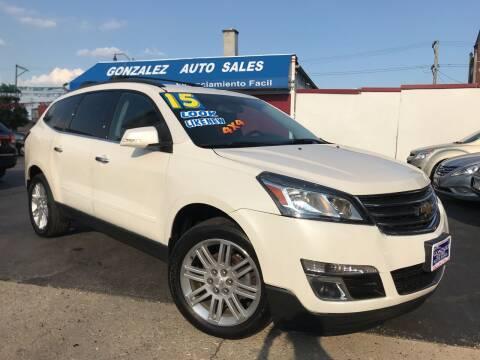 2015 Chevrolet Traverse for sale at Gonzalez Auto Sales in Joliet IL