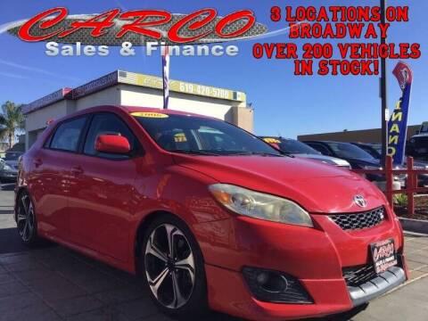 2010 Toyota Matrix for sale at CARCO SALES & FINANCE #2 in Chula Vista CA