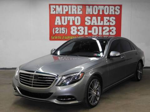 2015 Mercedes-Benz S-Class for sale at EMPIRE MOTORS AUTO SALES in Philadelphia PA