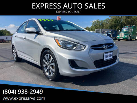 2017 Hyundai Accent for sale at EXPRESS AUTO SALES in Midlothian VA