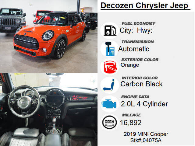 2019 MINI Hardtop 4 Door Cooper S 4dr Hatchback - Montclair NJ
