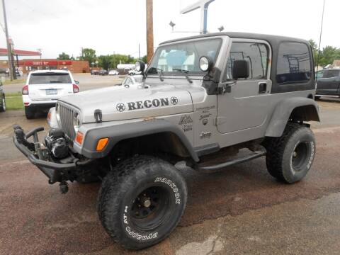 2000 Jeep Wrangler for sale at Salmon Automotive Inc. in Tracy MN