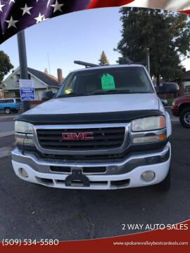2003 GMC Sierra 2500HD for sale at 2 Way Auto Sales in Spokane Valley WA