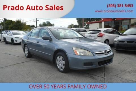 2007 Honda Accord for sale at Prado Auto Sales in Miami FL