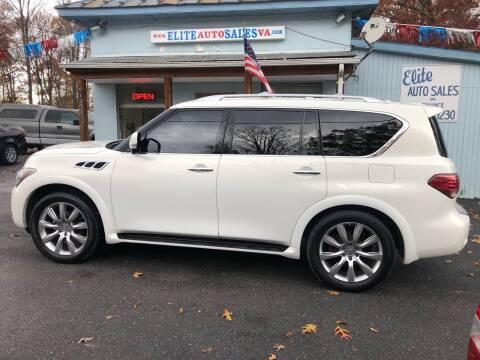 2012 Infiniti QX56 for sale at Elite Auto Sales Inc in Front Royal VA