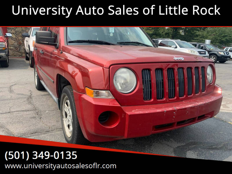 2009 Jeep Patriot for sale at University Auto Sales of Little Rock in Little Rock AR