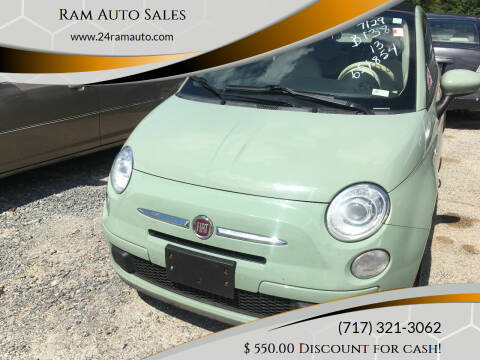2013 FIAT 500c for sale at Ram Auto Sales in Gettysburg PA