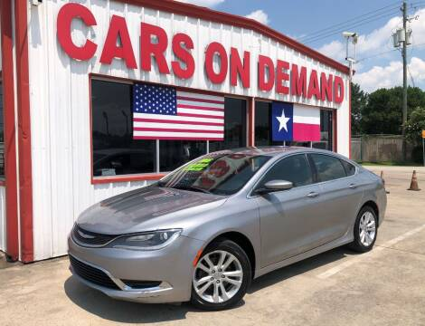 2015 Chrysler 200 for sale at Cars On Demand 2 in Pasadena TX